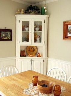 Corner Hutch (not In This Finish Color) Is A Possible For The Breakfast Room .