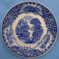 Dinerbord Castillo Made in Holland Regout & Co Maastricht Delft, Cutlery, Dinnerware, Holland, Dutch, Decorative Plates, Antiques, Nice, How To Make