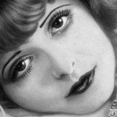 Clara Bow -- vintage make up style Vintage Hollywood, Hollywood Glamour, Classic Hollywood, Louise Brooks, Vintage Makeup, Vintage Beauty, 1920s Makeup Look, Gatsby, Vintage Photographs