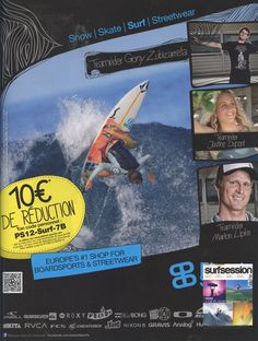 Surf Session - French Magazine - Gony Zubizarreta_PlanetSport Ad - Surf Team - Aug12
