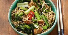 We called this a salad, but it's really a full-blown meal! Filled with nourishing ingredients, yet so easy to whip up, this makes the perfect dinner for those mid-week nights when you don't feel like getting too crazy in the kitchen.  http://www.foodmatters.com/recipe/choy-sum-soba-and-tempeh-salad-recipe
