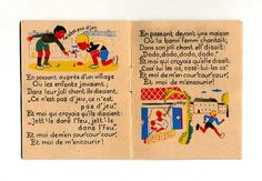Inside spread of Et Moi de M'Encourir published by Editions des Artistes illustrated by Élisabeth Ivanovsky (1945)