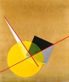 Laszlo Moholy-Nagy, Yellow Circle, no date