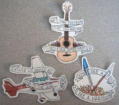 Twenty One Pilots Sticker Set 3 by delinqwentz on Etsy