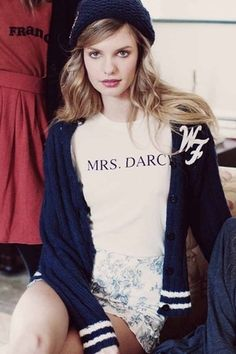 Wildfox Couture Mrs. Darcy Tourist Crew in Vintage Lace
