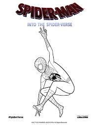 Spider Man Into The Spider Verse Coloring Pages Miles Morales Google Search Coloring Pages Spider Verse Spiderman