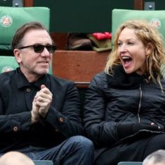 Tim Roth and his wife Nikki Butler at the French Tennis Open (298856)