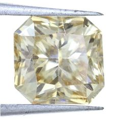 Fabulous Light Yellow Color Awesome Radiant Shape 1.35 Carat Loose Moissanite