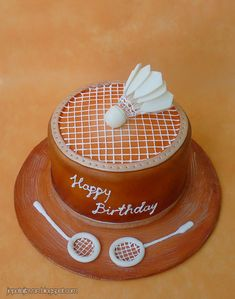 My birthday cake ! Shuttle Badminton, Badminton Pictures, Theme Sport, Sports Themed Cakes, My Birthday Cake, 15th Birthday, Birthday Wishes, Dad Cake, Sports