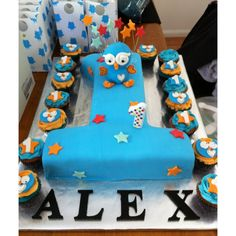 Giggle and Hoot , first Birthday Cake. 1st Birthday Cakes, Baby Boy 1st Birthday, First Birthday Parties, Birthday Party Themes, Birthday Ideas, Cakes For Boys, 1st Birthdays, Cake Ideas, Cake Decorating