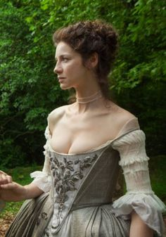 claire wedding dress outlander silver