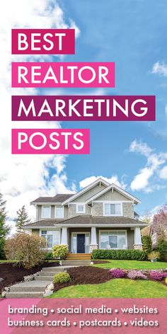 Best Real Estate Marketing Posts - You made it! You found all my best Real Estsate  Marketing articles, resources and blog posts! Covering such topics as real estate websites, social media, business cards, SEO branding, collateral and more! I am a licensed real estate agent myself in the state of Florida and work with many real estate agents every month, helping to craft a solid marketing strategy that will let them grow their businesses! Real Estate Marketing, #RealEstate Agent Marketing