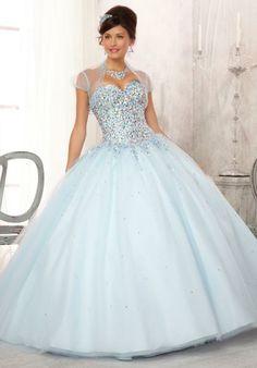 Big baby blue prom dresses