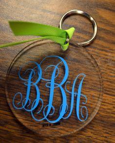 Christmas - PERSONALIZED Round Acrylic Keychain by embellishboutiquellc, $7.00