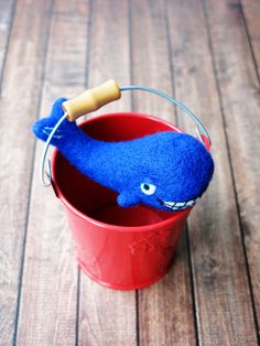 a baby whale. felt toy. felted project. toy kit.