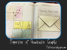 Mrs. Hester's Classroom: Properties of Quadratic Graphs