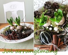 Arrangemang med hyacinter