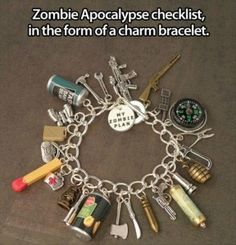 zombie check list bracelet....I NEED THIS!