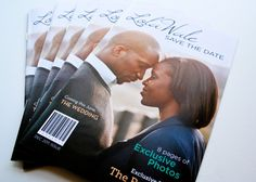 Very cute idea.  Magazine save-the-dates!  Via @Etsy, of course!