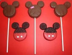 Mickey Mouse Oreo Pops by Katie @ Dip It In Chocolate!  These are so fun!  Katie also has many other fun ideas like Ore-Stuffed Chocolate-Dipped Marshmallows on a Stick!