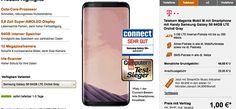 Samsung Galaxy S8 mit Vertrag für 1,00 Euro zum Magenta Mobil M im D1 Telekom Netz inkl. LTE Internet-Flatrate 3 GB mit bis zu 300 Mbit/s , Telefon Allnet-Flat , EU Roaming , HotSpot Flat und jetzt inklusive StreamOn Musik & Videos ohne Datenverbrauch im Telekom Netz.  #Telekom #Samsung #GalaxyS8 #MagentaMobilM