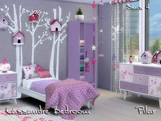 Cassandre Bedroom S4 by Pilar at TSR via Sims 4 Updates