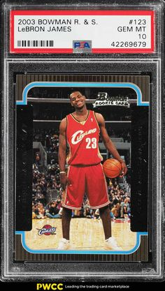 0d41ded6ba7 2003 Bowman Rookies  amp  Stars LeBron James ROOKIE RC  123 PSA 10 GEM MINT