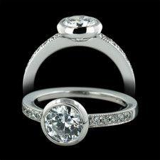 sholdt rings | Sholdt Rings Sholdt platinum full bezel engagement ring