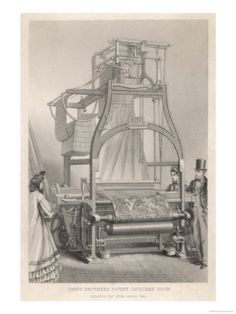 Smith Brothers' Patent Jacquard Loom Print