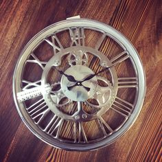 Wanduhr, Uhr Ø35 cm SIGN Nickel, Zahnraduhr, Zahnräder | eBay