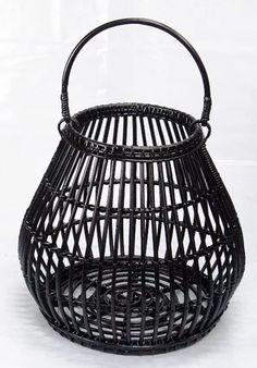 LANTERN svítilna kulatá černá velká | ratan-praha