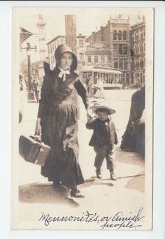Amish Mennonite Woman Child Pennsylvania Lancaster County PA