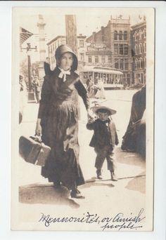 Amish Mennonite Woman Child Pennsylvania Lancaster County PA