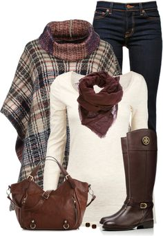 Base Cape With Riding Boots Fall Outfit