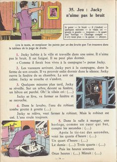 Manuels anciens: Tranchart, Levert, Rognoni, Bien lire et comprendre Cours élémentaire (1963) : grandes images French Learning Books, Teaching French, French Class, French Lessons, French Adjectives, Learn French Fast, French Worksheets, French Phrases, Lus