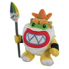 Baby Bowser JR Super Mario Bros Plush Toy Stuffed Animal Magic Paintbrush Pen with a Free Badge as G @ niftywarehouse.com #NiftyWarehouse #Mario #SuperMario #Nintendo #VideoGames #Gaming #MarioBrothers