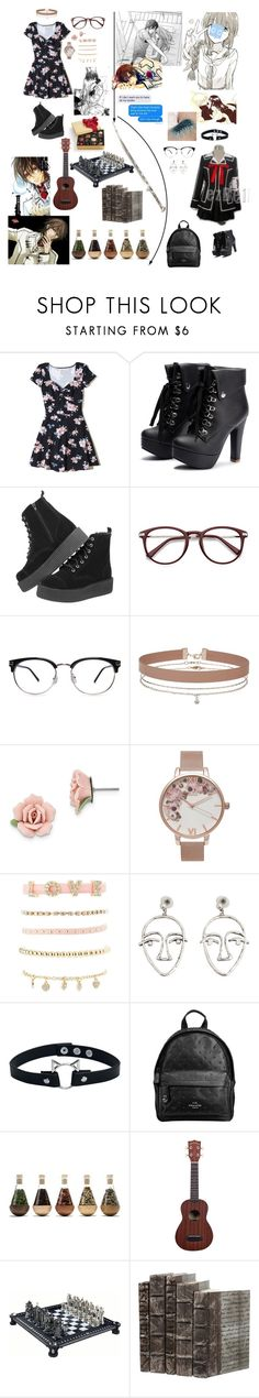 """Untitled #40"" by living4aesthetic ❤ liked on Polyvore featuring Hollister Co., Miss Selfridge, 1928, Olivia Burton, Charlotte Russe, MANGO, Coach and GET LOST"