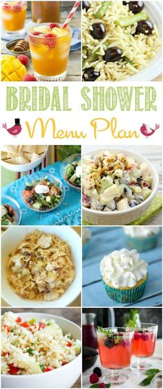 Throwing a bridal shower this season?  Our menu plan could help you with some tasty recipes.