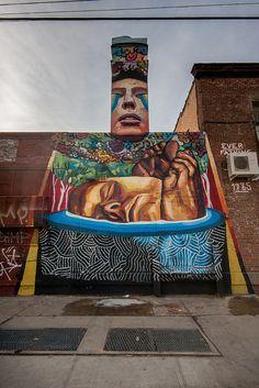 Great piece by Ever , a street artist from Buenos Aires, in Bushwick. New York Street Art, Hip Hop Art, Street Artists, Pinball
