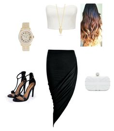 """""""Untitled #84"""" by daajana ❤ liked on Polyvore featuring Forever New, Boohoo, Elizabeth and James, Rolex and Alexander McQueen"""
