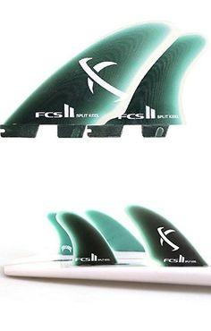 Other Surfing 2916 Fcs Ii Keel Quad Set Pg Split 4 Surfboard Fins