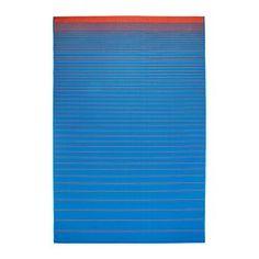 IKEA - MEJLBY, Alfombra, Perfecta para poner en tu salón o debajo de la mesa de comedor, ya que su superficie lisa te permite aspirarla y mover las sillas fácilmente.Esta alfombra es ideal para el exterior, ya que resiste la lluvia, el sol, la nieve y la suciedad.Si la alfombra se moja, ponla sobre una barra o enróllala y colócala en vertical y se secará rápidamente.