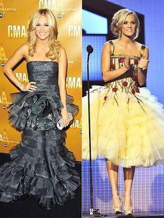 Carrie Underwood's Most Memorable CMA Awards Outfits Through the Years Carrie Underwood Cma, Christina Ag, Cma Awards, Celebs, Celebrities, Blake Lively, Khloe Kardashian, Up Styles, Star Fashion