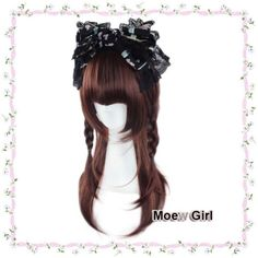 Cute-Harajuku-Lolita-Wig-Red-Brown-Long-Natural-Straight-Full-Wig-Moe-Cosplay
