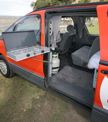 Zen Adventure Previa, Campers, Pop Tops, RVs and Adventure Vans Toyota Previa, Stealth Camping, Minivan Camping, Camper Beds, Camper Van, Sleeper Van, Micro Campers, Van Conversion Layout