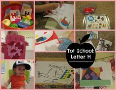School Time Snippets: Tot School: Letter H Letter H Activities, Toddler Activities, Handprint Art, Tot School, How To Introduce Yourself, Letters, Baseball Cards, Fun, Crafts