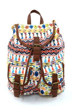 Γυναικείο σακίδιο πλάτης σε ethnic σχέδιο. Κλείνει με μαγνητικό κούμπωμα και το ύφασμα του είναι εξαιρετικής ποιότητας canvas. Backpacks, Bags, Fashion, Handbags, Moda, Fashion Styles, Backpack, Fashion Illustrations, Backpacker