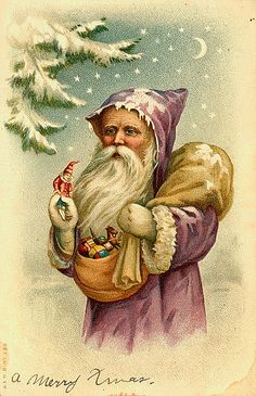 vintage santa claus painting  | Recent Photos The Commons Getty Collection Galleries World Map App ...