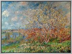 Spring, 1880-82 Framed Canvas Print by Claude Monet at Art.com