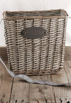 Welcome Basket with long leather strap $9.99 each
